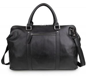 Дорожная сумка JMD гладкая кожа