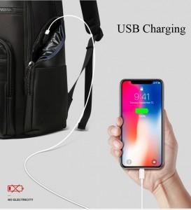 Дорожный рюкзак для ноутбука BOPAI 851-014211 боковой карман с  USB