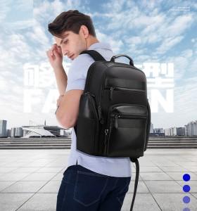 Мужской дорожный рюкзак BOPAI 851-014211 черный на модели