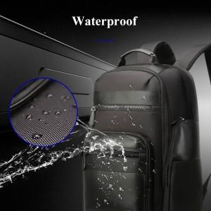 Мужской дорожный рюкзак BOPAI 851-014211 черныйсделан из микрофибры (микроволокно)