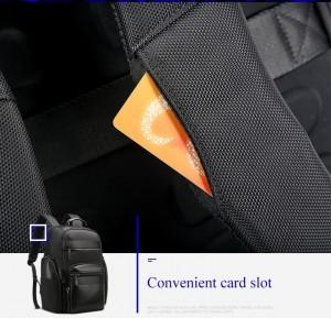 Мужской дорожный рюкзак BOPAI 851-014211 черный карман для карт