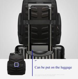 Мужской дорожный рюкзак BOPAI 851-014211 черныйлегко крепится на ручку чемодана