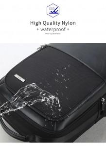 Рюкзак для ноутбука 15 с USB BOPAI 851-025811 не впитывает воду благодаря свойствам материала