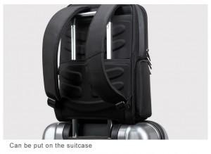 Рюкзак для ноутбука 15 с USB BOPAI 851-025811 легко фиксируется на ручке чемодана