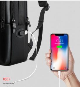 Рюкзак для ноутбука 15 с USB BOPAI 851-025811 с USB разъемом