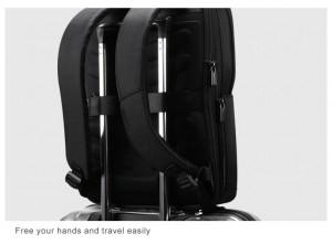Рюкзак антивор для ноутбука 15.6 BOPAI 61-02511 черный легко крепится на ручку чемодана