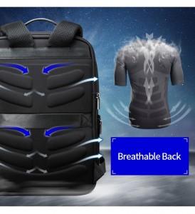 Рюкзак антивор для ноутбука 15.6 BOPAI 61-02511 черный дышащая спинка рюкзака
