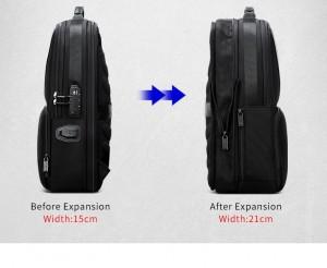 Рюкзак антивор для ноутбука 15.6 BOPAI 61-02511 черный увеличивается на 6 см вглубину