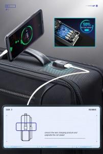 Дорожный рюкзак BOPAI 61-19011 черный фото USB нового поколения