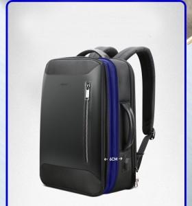 Дорожный рюкзак для ноутбука 15.6 BOPAI 61-19011 черный увеличивается по ширине