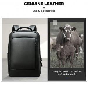 Бизнес рюкзак для ноутбука 15.6 BOPAI 61-16311 сделан из натуральной кожи