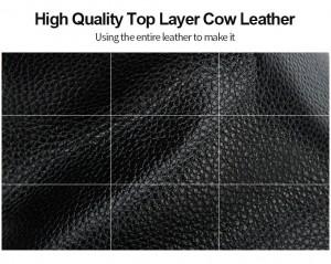 Бизнес рюкзак для ноутбука 15.6 BOPAI 61-16311 фрагмент коровьей кожи крупным планом
