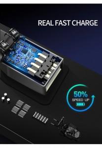 Кожаный деловой рюкзак BOPAI 61-16311 черный USB разъем нового поколения