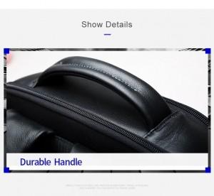 Кожаный деловой рюкзак BOPAI 61-16311 эргономичная ручка