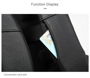 Кожаный деловой рюкзак BOPAI 61-16311 кармашки для транспортных карт