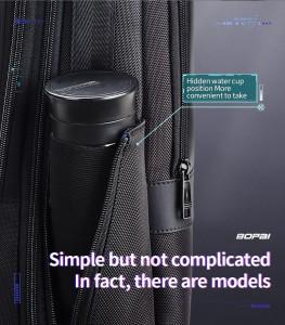 Школьный Рюкзак для ноутбука 15,6 BOPAI 61-26111 черный карман для бутылки с водой
