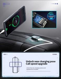 Школьный Рюкзак для ноутбука 15,6 BOPAI 61-26111 черный USB разъем нового поколения на боковой части