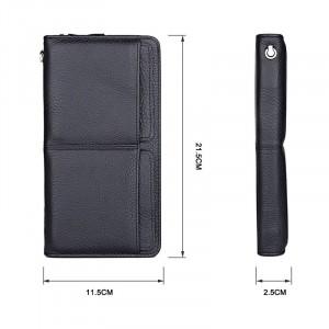 Клатч мужской кожаный J.M.D. черный 8069A фото с размерами