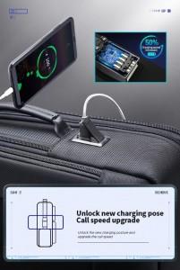 Тонкий рюкзак для ноутбука 15.6 BOPAI 61-39911 фото USB нового поколения