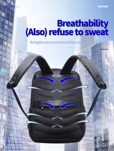 Тонкий рюкзак для ноутбука 15.6 BOPAI 61-39911 дышащая спинка рюкзака