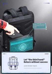Тонкий рюкзак для ноутбука 15.6 BOPAI 61-39911 потайной карман