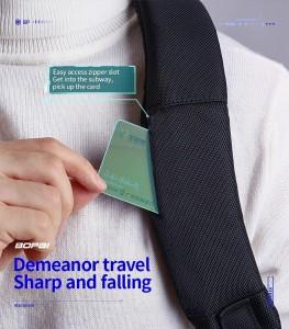 Деловой рюкзак Bopai 61-39911 черный фото кармашка для карт