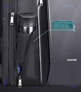 Рюкзак для ноутбука 15.6 BOPAI61-53111 черный боковой карман на резинке