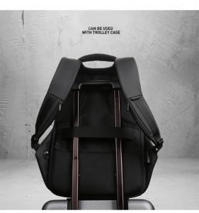 Рюкзак антивор Mark Ryden MR6768 черный легко фиксируется на ручке чемодана