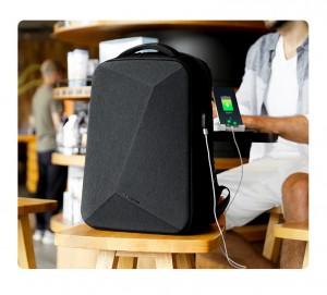Рюкзак с кодовым замком TSA Mark Ryden MR9405YY черный с USB разъемом