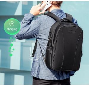 Рюкзак для ноутбука 15,6 с USB Mark Ryden MR9508 черный надет на плечи мужчине