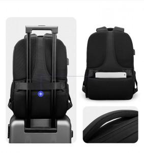Рюкзак для ноутбука 15,6 с USB Mark Ryden MR9508 черный фото 3 детали