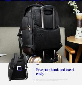 Рюкзак дорожный для ноутбука 15.6 BOPAI 11-85301 черный легко крепится на ручку чемодана