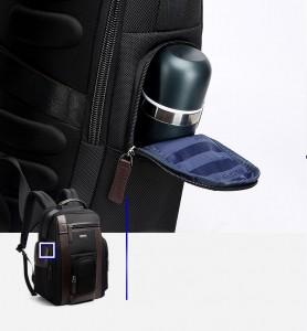 Рюкзак дорожный мужской BOPAI 751-006751 черный боковой карман