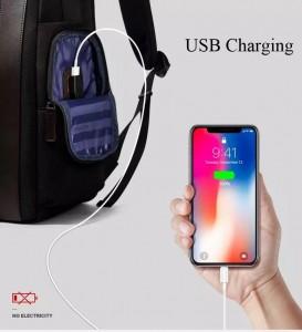 Рюкзак дорожный мужской BOPAI 751-006751 USB разъем закрывается на молнию