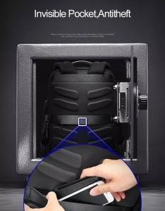 Рюкзак дорожный мужской BOPAI 751-006751 черный с потайным карманом