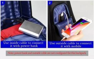 Рюкзак дорожный мужской BOPAI 751-006751 черный с USB разъемом