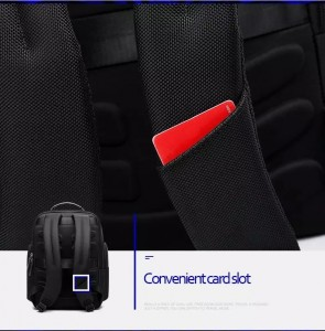 Рюкзак дорожный мужской BOPAI 751-006751 черный слот для транспортных карт