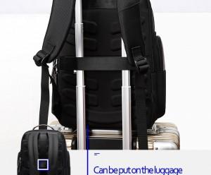 Рюкзак дорожный мужской BOPAI 751-006751 черный легко крепится на ручку чемодана