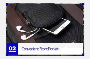 Рюкзак дорожный мужской BOPAI 751-006751 черный фото кармана