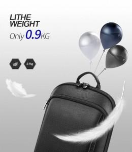 Кожаный тонкий рюкзак для ноутбука 15.6 BOPAI 61-52711 весит всего 900 грамм