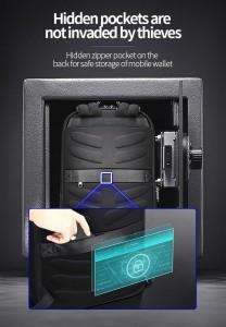 Кожаный тонкий рюкзак для ноутбука 15.6 BOPAI 61-52711 потайной карман