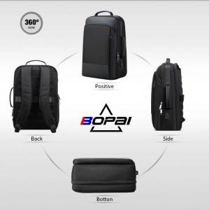 Мужской деловой рюкзак BOPAI 61-07311 фото в разных проекциях