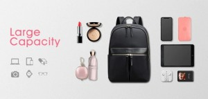 Женский рюкзак для ноутбука 14 BOPAI 62-16921 черный стильный и вместительный