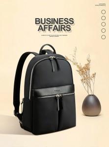 Женский рюкзак для ноутбука 14 BOPAI 62-16921 черный фото в интерьере