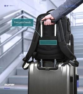 Дорожный рюкзак 2 в 1 для ноутбука 15.6 BOPAI 61-17011 черный лента для фиксации чемодана