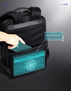 Дорожный рюкзак 2 в 1 для ноутбука 15.6 BOPAI 61-17011 черный потайной карман