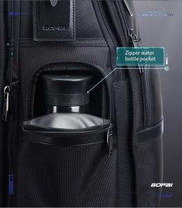 Дорожный рюкзак 2 в 1 для ноутбука 15.6 BOPAI 61-17011 черный боковой карман для бутылки с водой