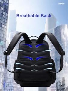 Дорожный рюкзак 2 в 1 для ноутбука 15.6 BOPAI 61-17011 черный анатомическая спинка с 9 ребрами жесткости