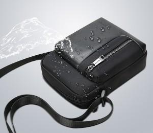 Сумка-планшет мужская BOPAI 11-26521 черная сделана из водоотталкивающих материалов