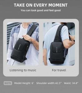 Нагрудная сумка с замком TSA Mark Ryden MR7039 фото на модели